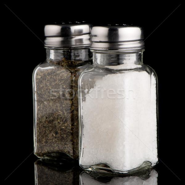 塩 オレガノ 金属 料理 写真 孤立した ストックフォト © homydesign