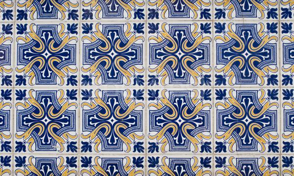 Portuguese glazed tiles 078 Stock photo © homydesign