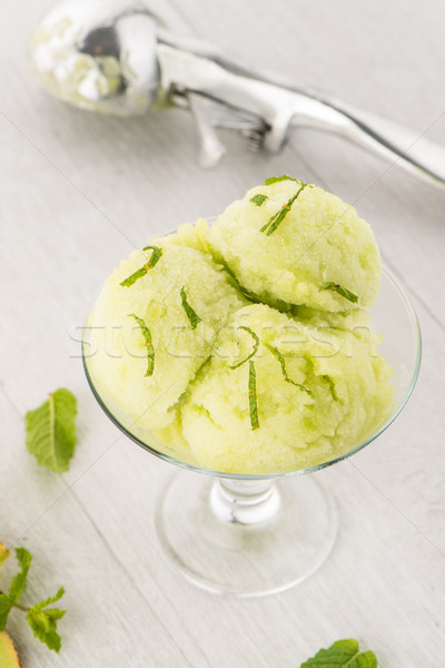 Melon flavored ice-cream Stock photo © homydesign