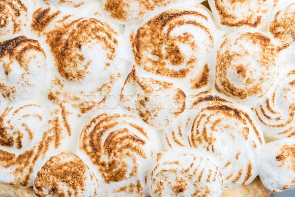 Meringue cake tart Stock photo © homydesign