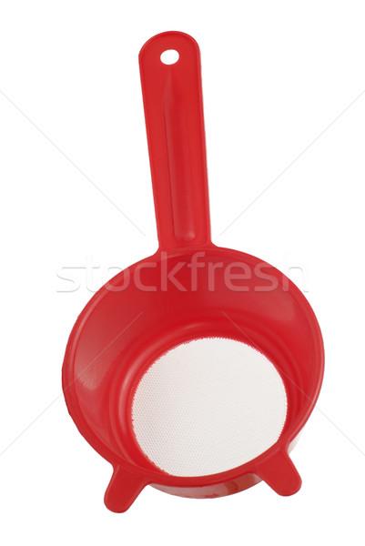 Red plastic colander Stock photo © homydesign