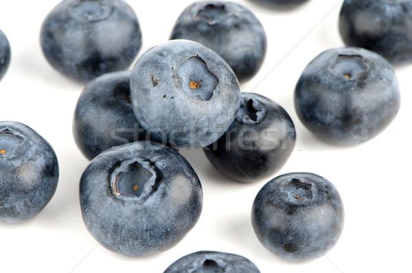 Photo stock: Groupe · fraîches · bleuets · isolé · blanche · fruits
