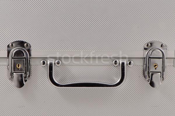 Zilver behandelen detail aluminium geval business Stockfoto © homydesign