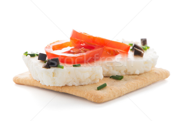 Crispbread with fromage Stock photo © homydesign