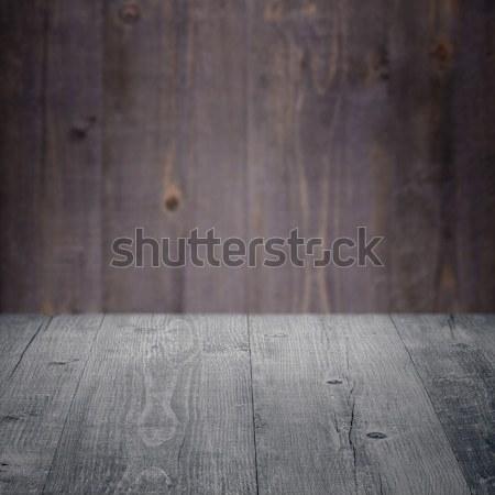Hout tabel houten muur boom bouw Stockfoto © homydesign