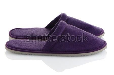 ペア 紫色 スリッパ 白 家 デザイン ストックフォト © homydesign