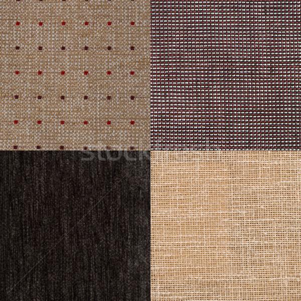 Ingesteld bruin weefsel textuur mode Stockfoto © homydesign