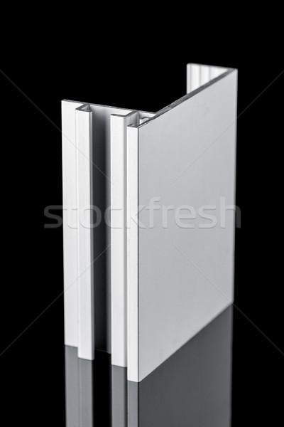 Aluminium profil próba odizolowany czarny domu Zdjęcia stock © homydesign
