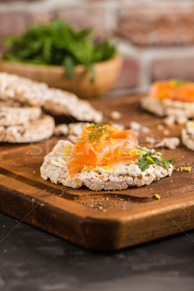 Stok fotoğraf: Pirinç · ekmek · lezzetli · krem · peynir