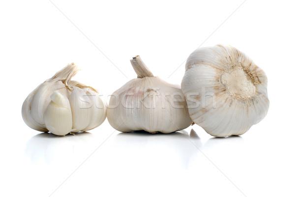 Three garlic Stock photo © homydesign
