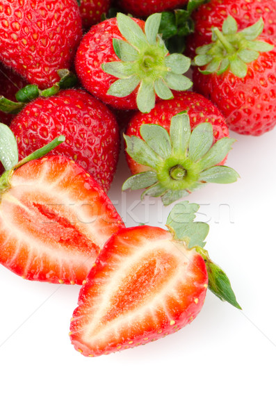 Appetizing strawberries  Stock photo © homydesign