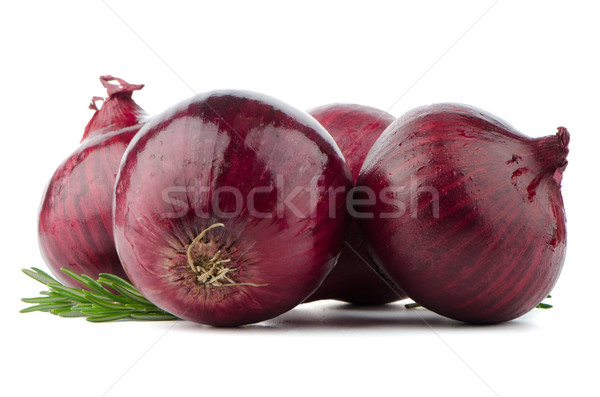 Red onions Stock photo © homydesign