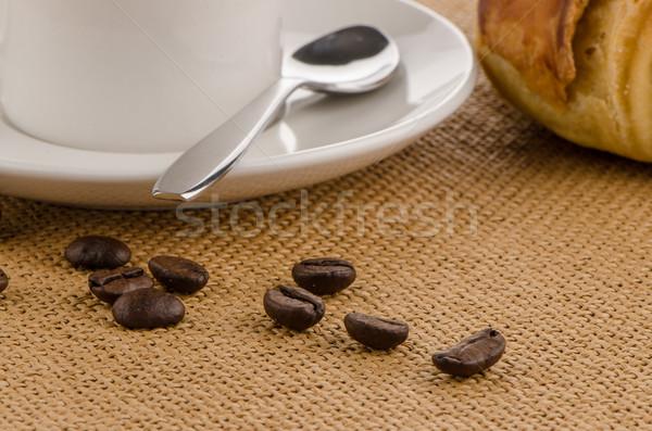 черный кофе дома текстуры продовольствие здании кофе Сток-фото © homydesign