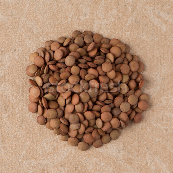 Stock photo: Circle of lentils