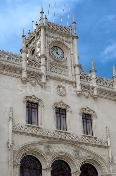 Rossio Lisbon central station Stock photo © homydesign