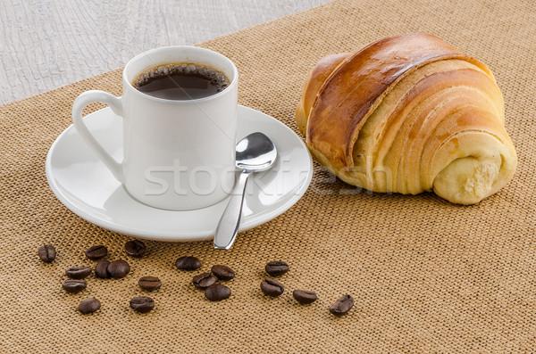 Beker zwarte koffie huis textuur voedsel gebouw Stockfoto © homydesign