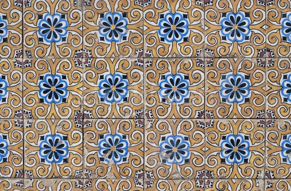 Portuguese glazed tiles 134 Stock photo © homydesign
