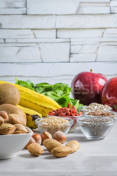 Healthy vegan food Stock photo © homydesign