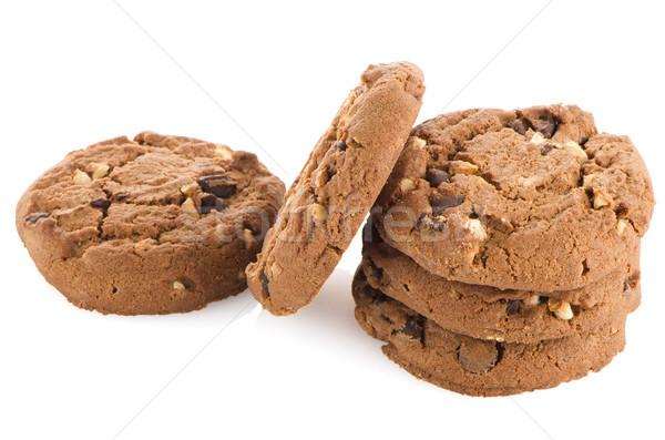 Chocolate chip cookies Stock photo © homydesign