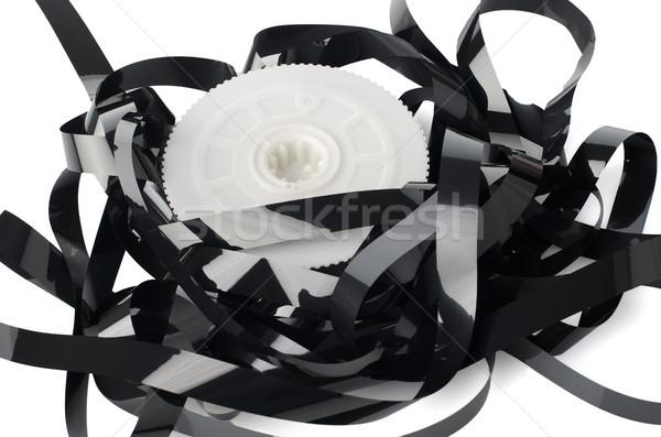 Köteg fehér tükröződő háttér videó adat Stock fotó © homydesign