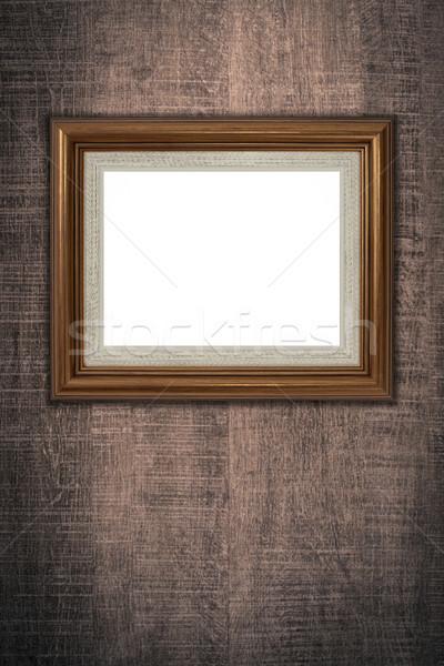 Velho quadro de imagem vintage madeira parede fundo Foto stock © homydesign
