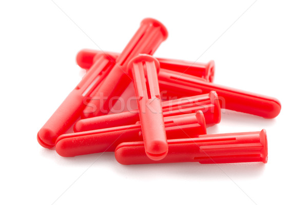 Red plastic dowels Stock photo © homydesign