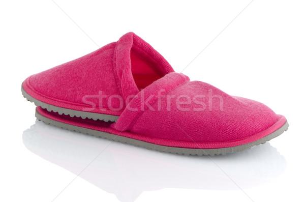 Paar roze slippers witte huis ontwerp Stockfoto © homydesign