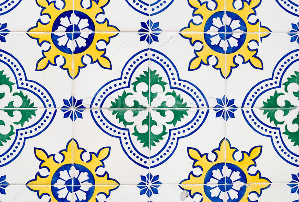 Old ceramic tiles Stock photo © homydesign
