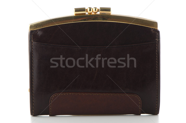 Brown leather Purse  Stock photo © homydesign