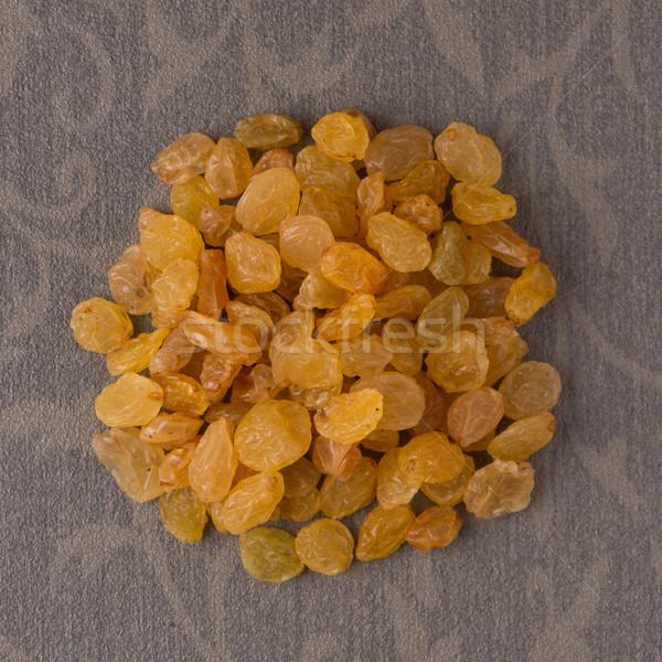 Daire altın kuru üzüm üst görmek kahverengi Stok fotoğraf © homydesign