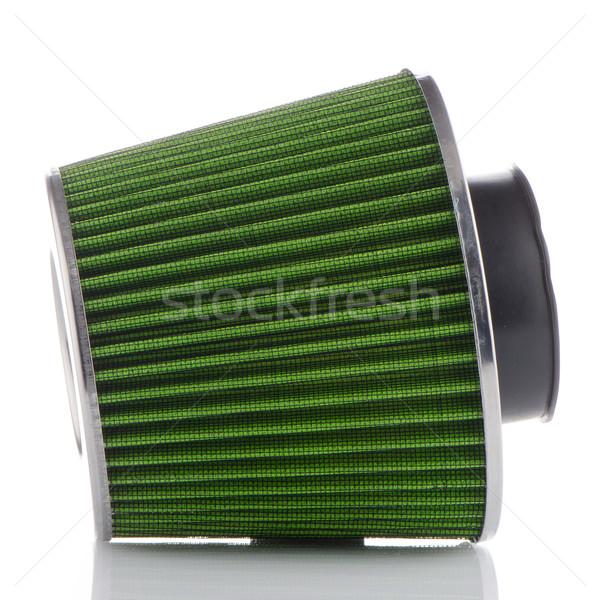 Air cône filtrer blanche véhicule modification Photo stock © homydesign