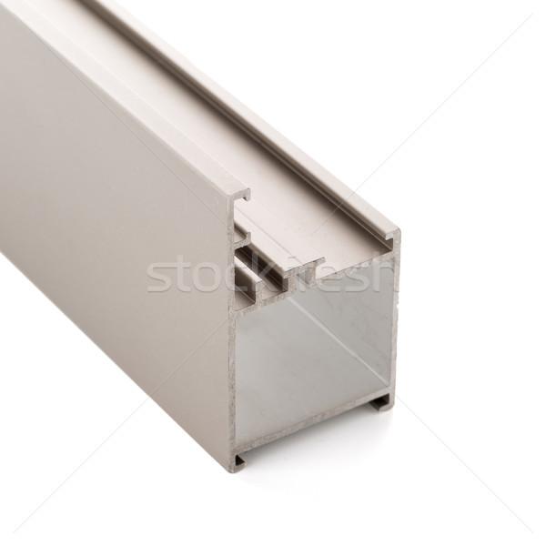 Alumínium profil minta izolált fehér épület Stock fotó © homydesign