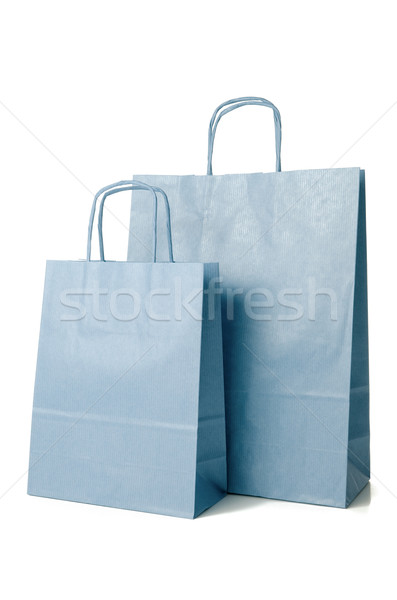 Blue shopping paper bags Stock photo © homydesign