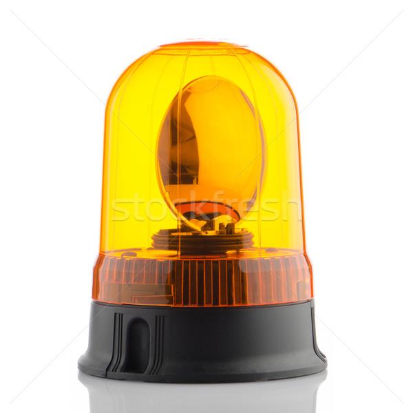 Orange rotating beacon  Stock photo © homydesign