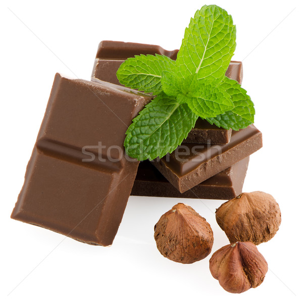 Chocolate parts Stock photo © homydesign