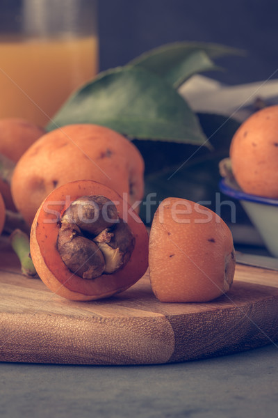 Balcão da cozinha vintage estilo fruto laranja tabela Foto stock © homydesign