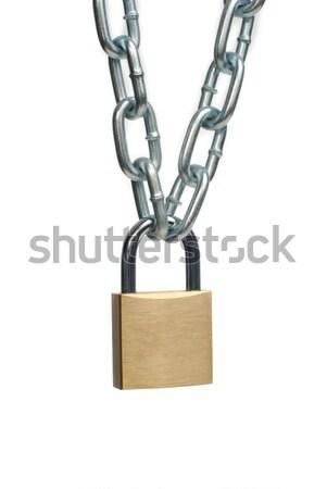 Open padlock and chain  Stock photo © homydesign