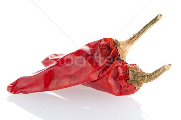 Two red hot chili pepper Stock photo © homydesign