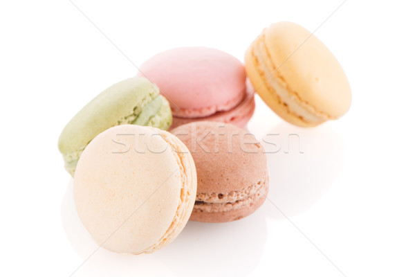 Stock photo: Colorful French Macarons