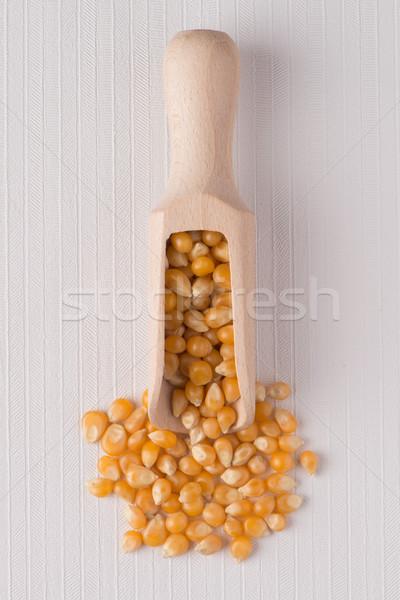 Stock photo: Wooden scoop with corn