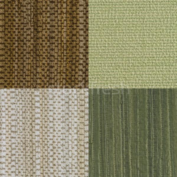 Conjunto verde vinil textura parede Foto stock © homydesign