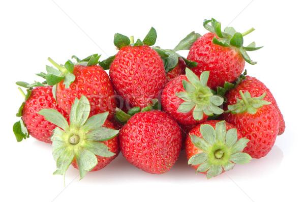 Iştah açıcı çilek beyaz meyve kırmızı çilek Stok fotoğraf © homydesign