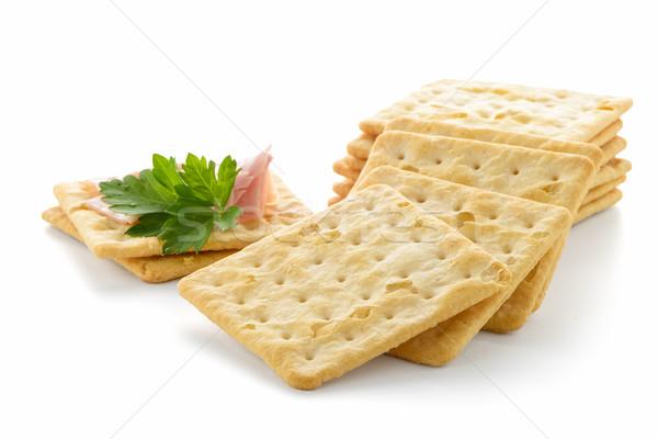 Crackers with Ham Stock photo © homydesign