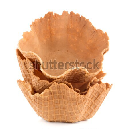 Stock photo: Wafer cups