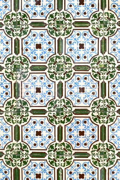 Portuguese glazed tiles 042 Stock photo © homydesign