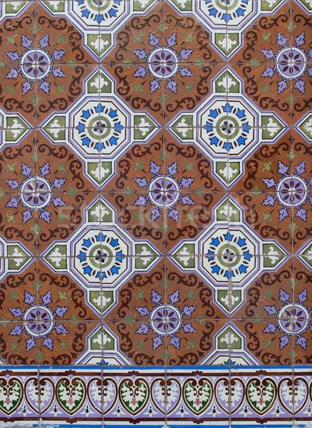 Portuguese glazed tiles 198 Stock photo © homydesign