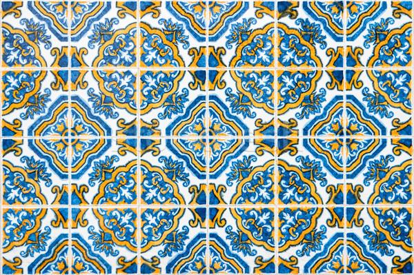 Portuguese glazed tiles Stock photo © homydesign