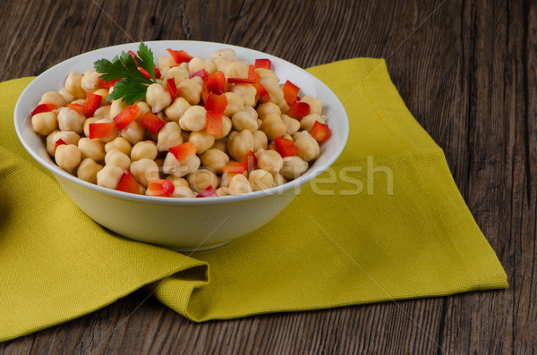 bowl of chickpea  Stock photo © homydesign