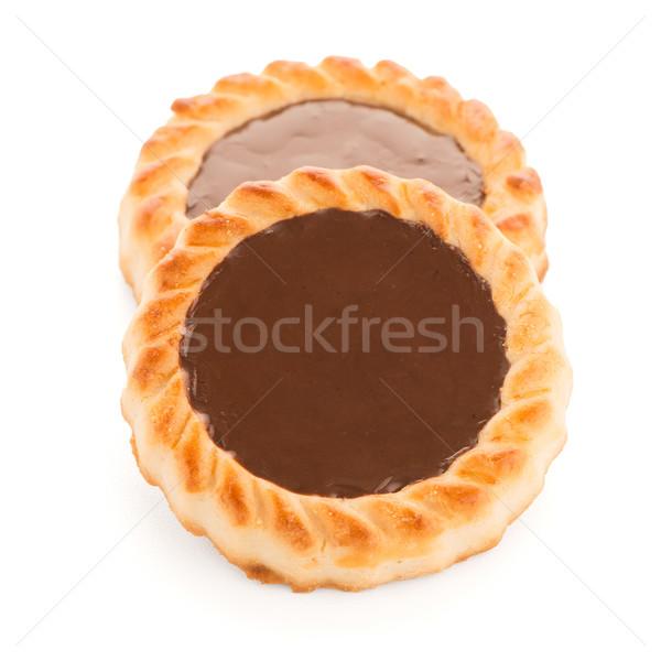 Cioccolato crostata cookies bianco dessert Foto d'archivio © homydesign