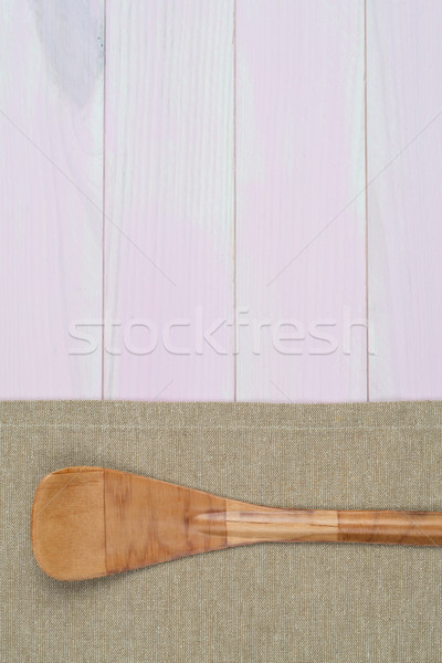 Kitchenware on beige towel Stock photo © homydesign